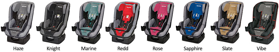 Recaro Performance RIDE Fabrics Colors